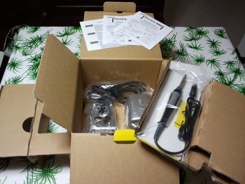 Hakko FX-888 packaging (open)